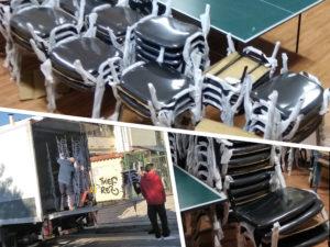 Καρέκλες θεάτρου στο 2ο λύκειο Βούλας